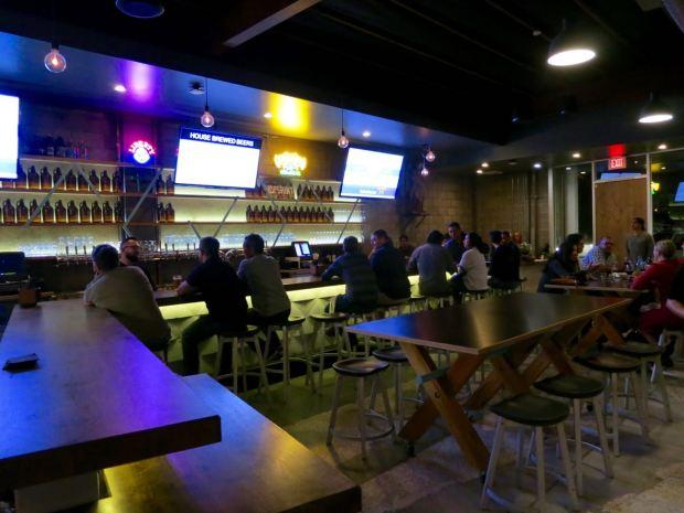 HopSaint Brewing Company Bar Area 2