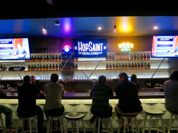 HopSaint Brewing Company Bar Seats and Taps