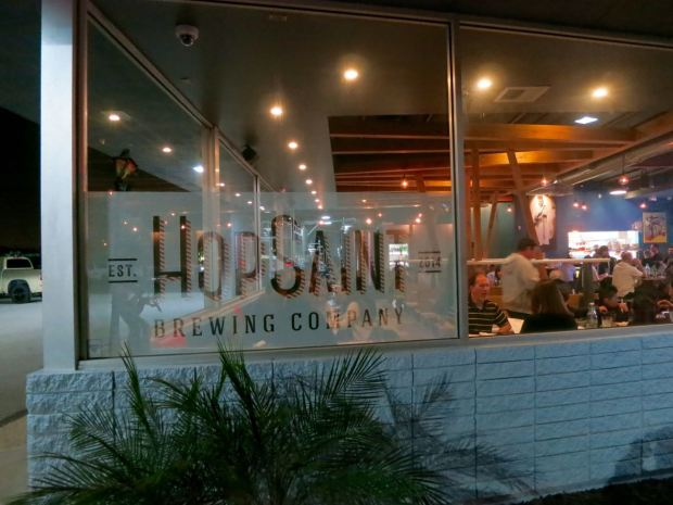 HopSaint Brewing Company Sign