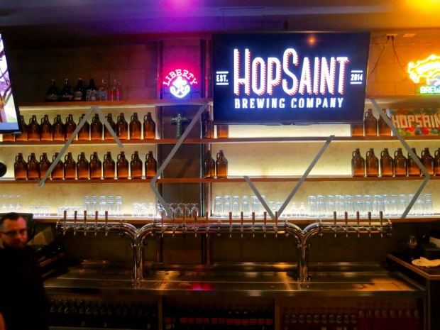 HopSaint Brewing Company Bar Taps