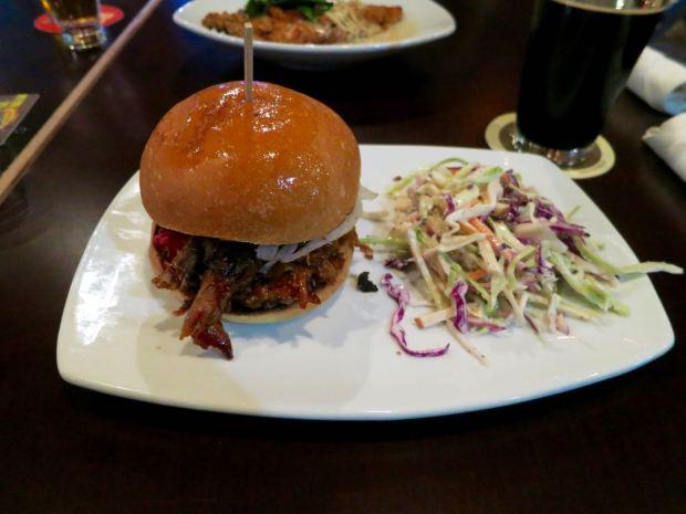 HopSaint Brewing Company Pulled Pork Sandwich