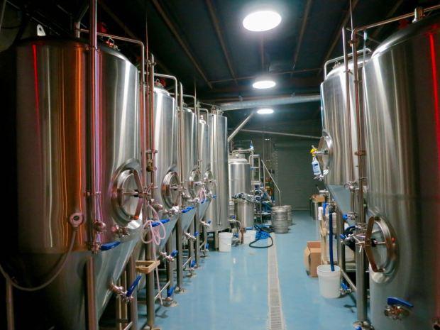 HopSaint Brewing Company Fermenting Tanks