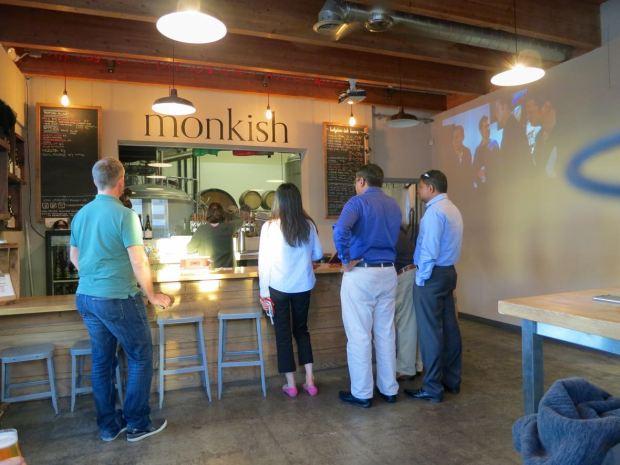 Monkish Brewing Co Entrance