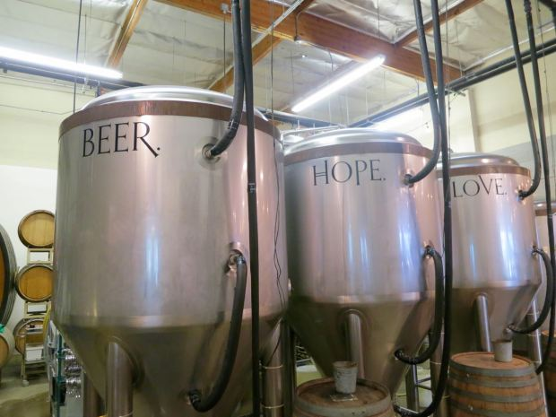Monkish Brewing Co Fermenting Tank