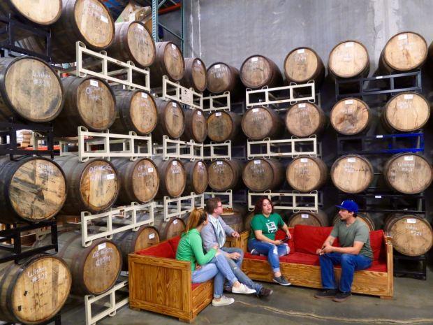 Smog City Brewing Company Aging Barrel