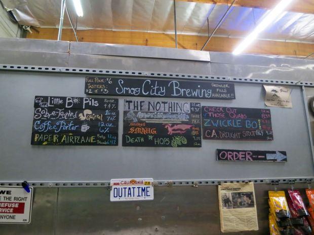 Smog City Brewing Company Beer List