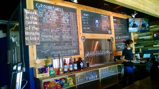Groundswell Brewing Company Taps and Board