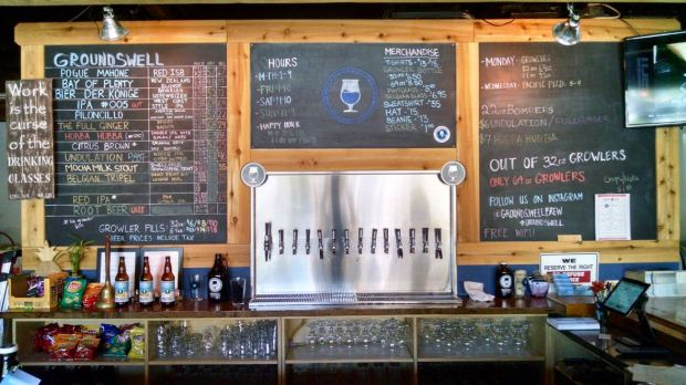 Groundswell Brewing Company Beer Taps