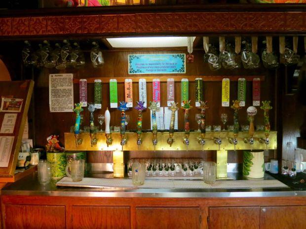 Main Street Brewery Beer Taps